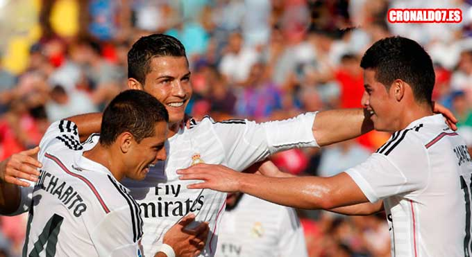 Cristiano Ronaldo, Chicharito y James