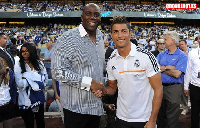 Cristiano Ronaldo y Magic Johnson