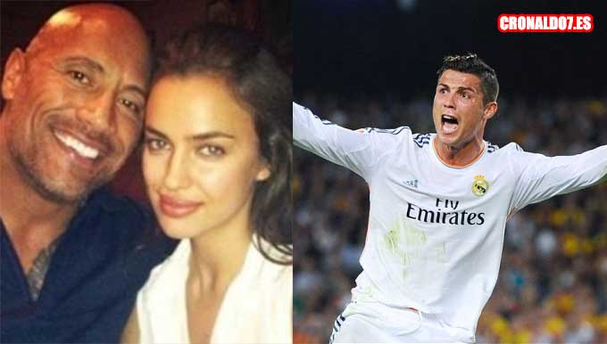 The Rock, Irina Shayk y Cristiano Ronaldo