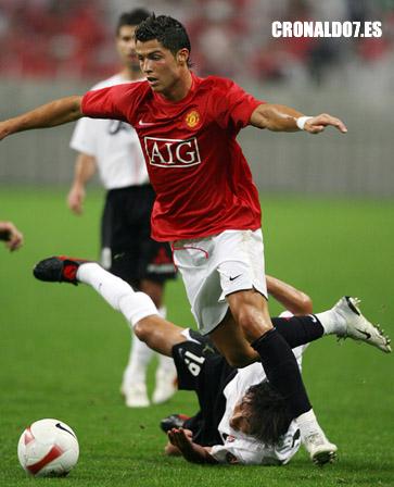 Cristiano Ronaldo jugand contra el Urawa