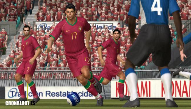 Cristiano Ronaldo en el Pro Evolution Soccer 2008
