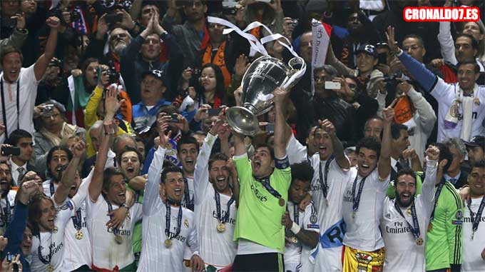 El Real Madrid celebra la Champions League