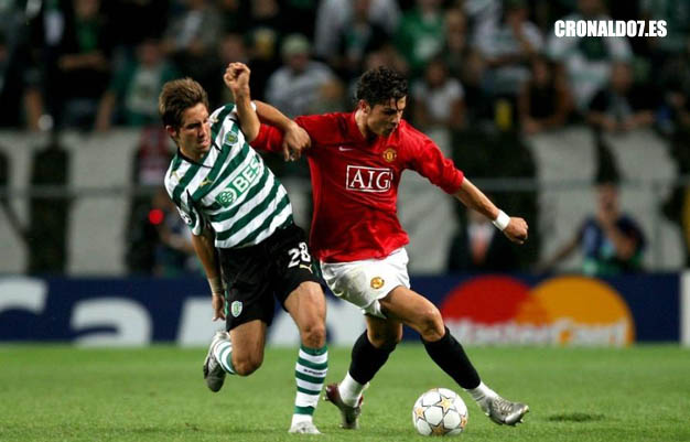 Cristiano Ronaldo jugando contra el Sporting de Lisboa