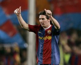 Leo Messi con el Barcelona
