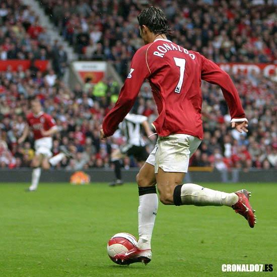 Cristiano Ronaldo con el Manchester Utd