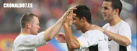 Cristiano Ronaldo y Wayne Rooney